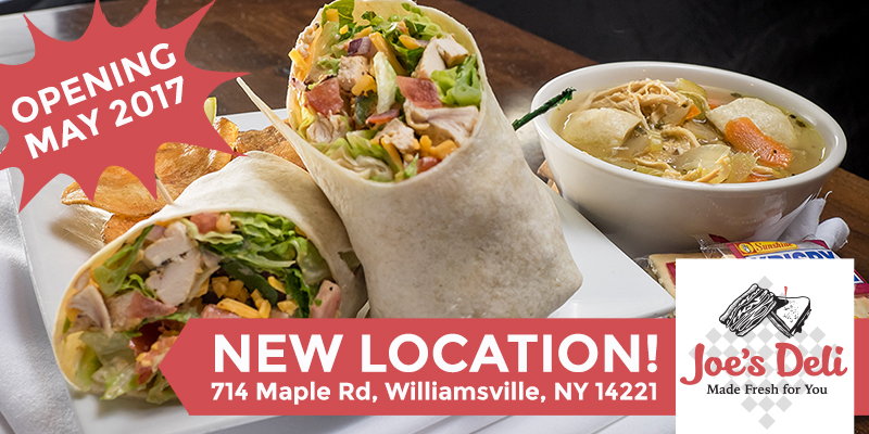 new Joe's Deli location, Joe's Deli, Buffalo NY Deli, Joe's Deli new location, Joe's Deli Maple Road