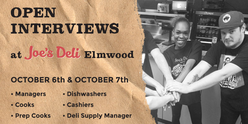 hiring, event, joe's deli, buffalo, cooks, managers, prep cooks, buffalo ny, oshei childrens hospital, cashier, elmwood ave, hertel ave, maple rd